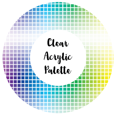 Clear Acrylic Palette Ink It Labs